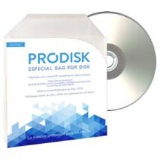 Sobres Plastico CD DVD (Pack 100unds) Prodisk (Espera 2 dias)
