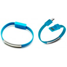Pulsera Cable Carga/Datos MicroUSB Universal Azul (Espera 2 dias)