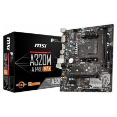 MSI A320M-A PRO MAX placa base AMD A320 Zócalo AM4 micro ATX (Espera 4 dias)