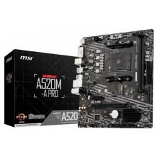 MSI A520M-A PRO placa base AMD A520 Zócalo AM4 micro ATX (Espera 4 dias)