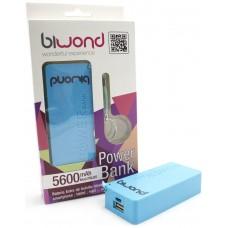 Power Bank 5600mAh Azul Biwond (Espera 2 dias)