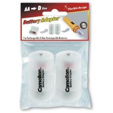 Funda Plástico Adaptadora Pilas AA/R06 a D/R20 (2 pcs) Camelion (Espera 2 dias)