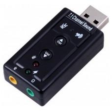 TARJETA DE SONIDO EWENT EW3762 USB 7.1 M/H NEGRO (Espera 4 dias)