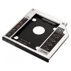 Ewent EW7003 funda para disco duro externo Acrilonitrilo butadieno estireno (ABS), Aluminio Negro, Blanco (Espera 4 dias)