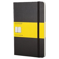 MOLESKINE NOTEBOOK LARGE SQUARED BLACK HARD COVER