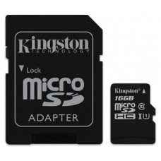 MEMORIA MICRO SD 16GB KINGSTON CLASE 10 UHS-I 80R
