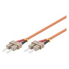 Cable Fibra Optica SC-SC OM2 2 metros Naranja